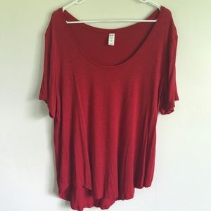 Old Navy Red luxe scoop neck T-Shirt-XL